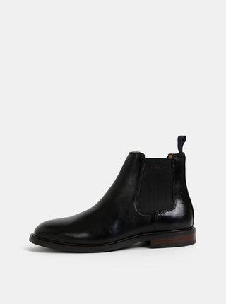 Černé pánské kožené chelsea boty GANT Ricardo