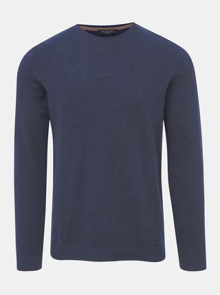Tmavomodrý basic sveter Selected Homme Dante