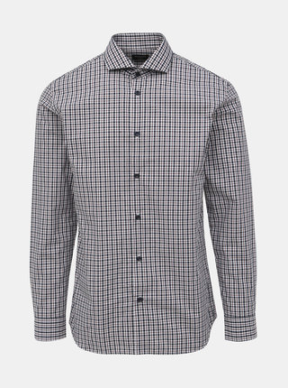 Šedá kostkovaná slim fit košile Selected Homme Sel