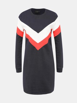 Tmavomodré mikinové šaty ONLY Dakota