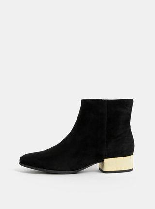 Čierne dámske semišové kotníkové topánky Geox Peython