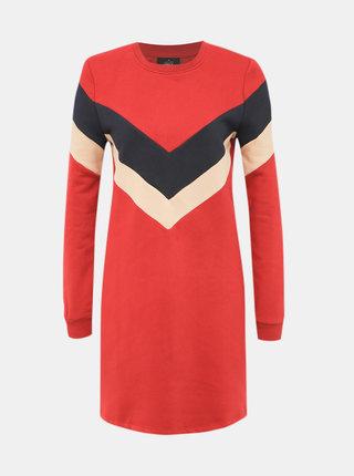 Červené mikinové šaty ONLY Dakota