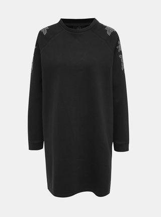 Čierne vzorované mikinové šaty ONLY Carly