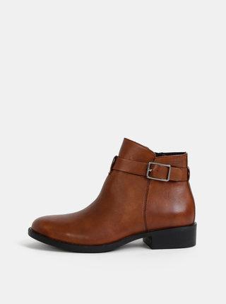 Hnědé dámské kožené boty Vagabond Cary
