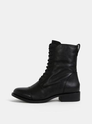 Čierne dámske kotníkové kožené topánky Vagabond Cary