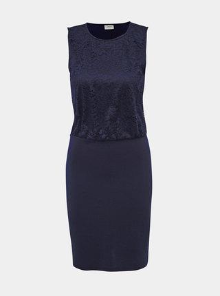Tmavě modré pouzdrové šaty s krajkou Jacqueline de Yong Panna