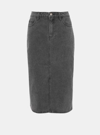 Šedá džínová sukně s rozparkem Jacqueline de Yong Jane