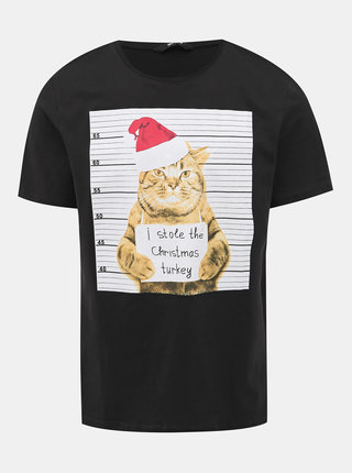 Černé tričko s potiskem ONLY & SONS Mar