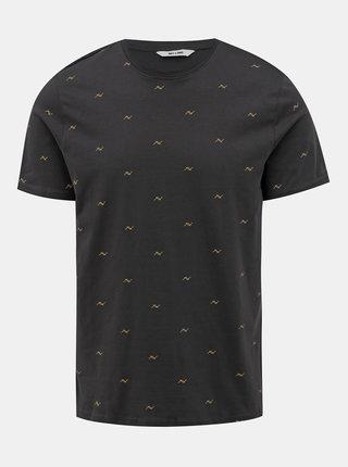 Tmavě šedé vzorované tričko ONLY & SONS Kane