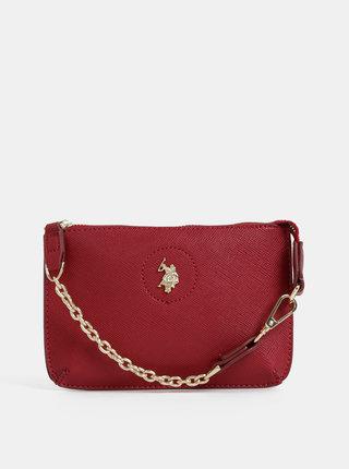 Červená listová kabelka U.S. Polo Assn.