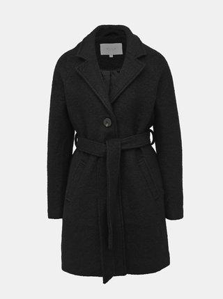Černý vlněný kabát VILA