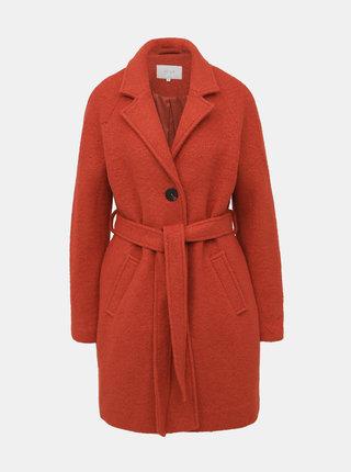 Červený vlněný kabát VILA