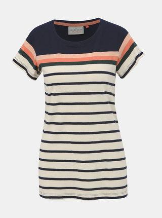 Krémové pruhované tričko Brakeburn