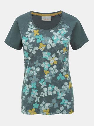 Zelené kvetované tričko Brakeburn