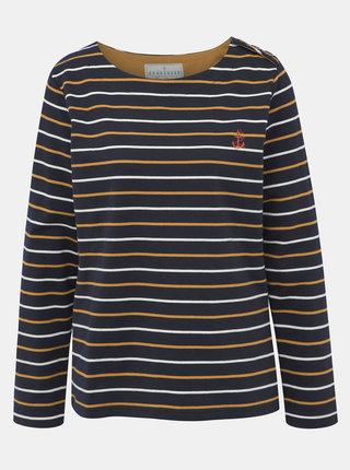 Tmavě modré pruhované tričko Brakeburn