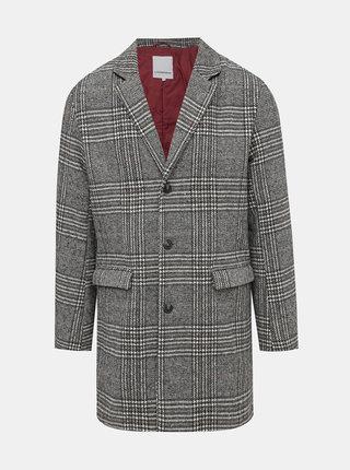 Šedý kockovaný kabát Lindbergh