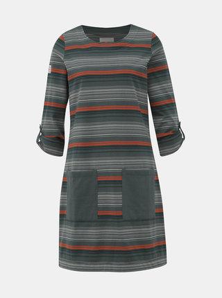 Šedé pruhované šaty Brakeburn