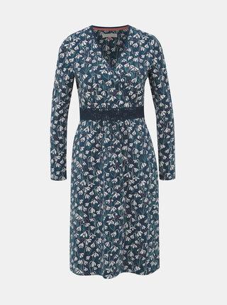 Tmavomodré kvetované šaty Brakeburn