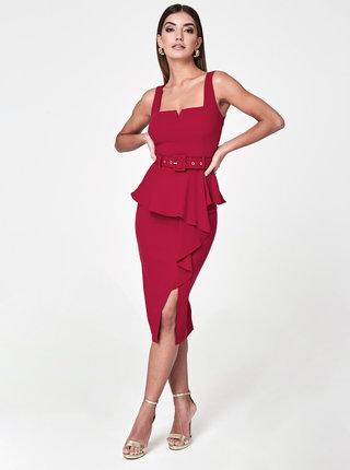 Červené púzdrové šaty Paper Dolls
