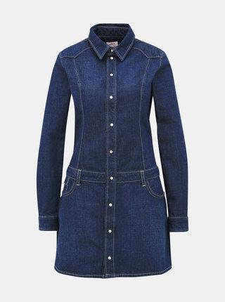 Tmavě modré džínové košilové šaty Pepe Jeans Susanna