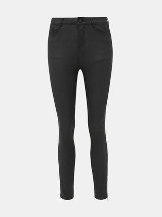Černé koženkové skinny fit džíny Dorothy Perkins Shape & Lift