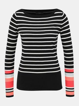 Černý pruhovaný svetr M&Co