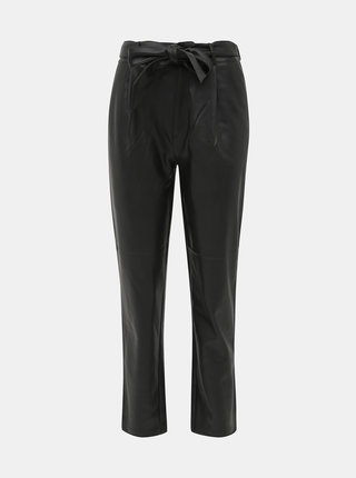 Čierne koženkové nohavice Dorothy Perkins