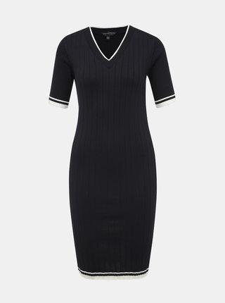 Tmavě modré pouzdrové svetrové šaty Dorothy Perkins