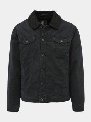 Čierna zimná džínová bunda Shine Original Derek