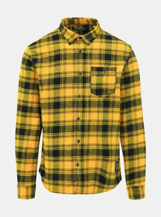 Žlutá flanelová kostkovaná košile Shine Original
