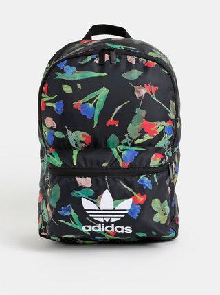 Čierny dámsky kvetovaný batoh adidas Originals
