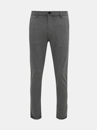 Šedé pruhované nohavice Shine Original