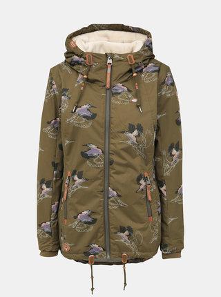 Khaki dámská vzorovaná nepromokavá zimní bunda Ragwear Zuzka
