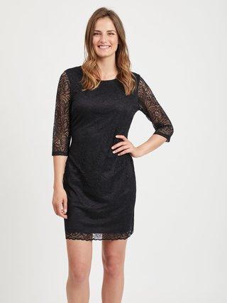 Čierne krajkové šaty VILA Blond