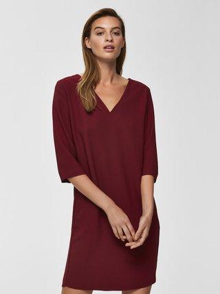 Vínové šaty Selected Femme Tunni