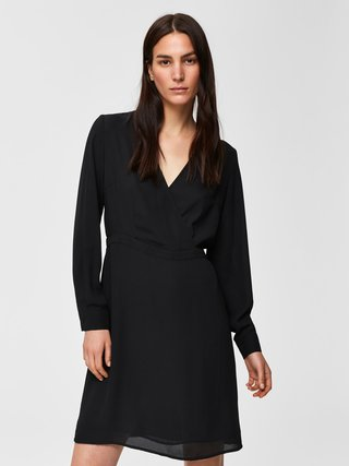 Čierne šaty Selected Femme Daniella