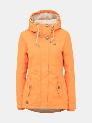 Oranžová dámská  zimní bunda Ragwear Zuzka Monade