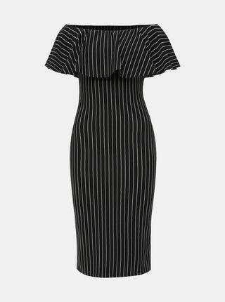 Černé pruhované pouzdrové šaty Haily´s Diva