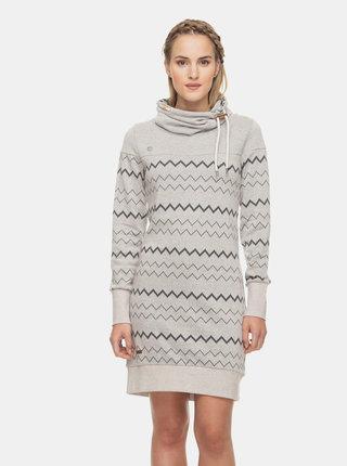 Svetlošedé vzorované mikinové šaty Ragwear Chloe