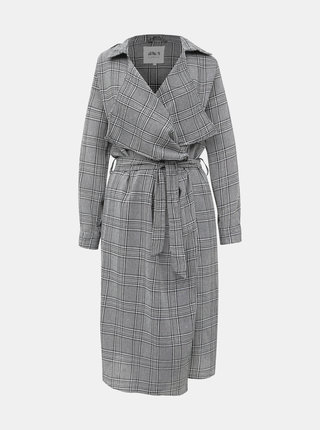 Šedý dámsky kockovaný ľahký kabát Haily´s Amelie