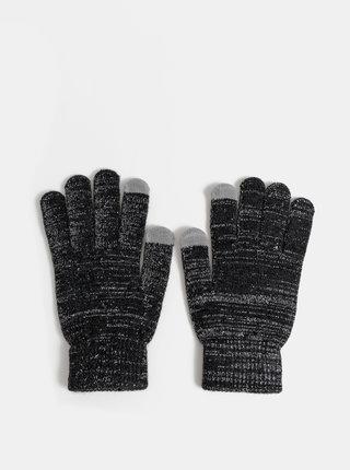 Čierne dámske metalické rukavice Haily´s Sina