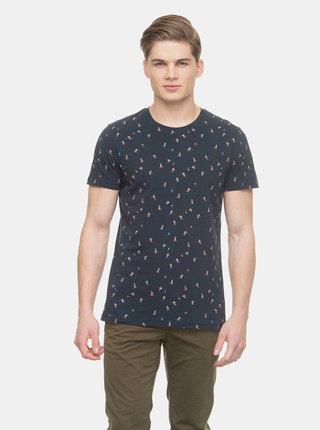 Tmavomodré pánske vzorované tričko Ragwear Olfie
