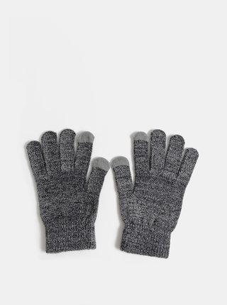 Šedé dámske metalické rukavice Haily´s Sina