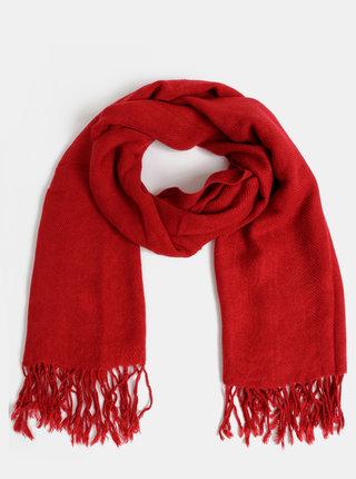 Červená dámská šála Haily´s Kitty