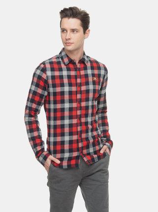 Červená pánská kostkovaná košile Ragwear Check