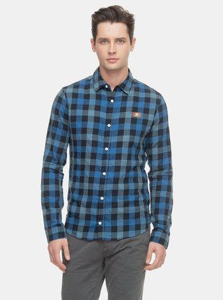 Modrá pánská kostkovaná košile Ragwear Check