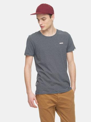 Šedé pánské pruhované basic tričko Ragwear Paul