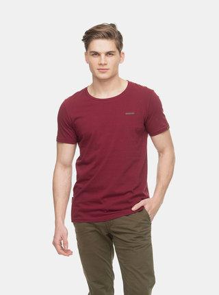 Vínové pánske pruhované basic tričko Ragwear Paul