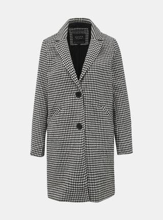 Šedý dámský vzorovaný kabát Haily´s Selly