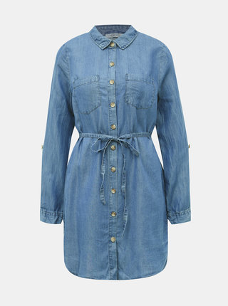 Modrá dámska dlhá rifľová košeľa Haily´s Manja